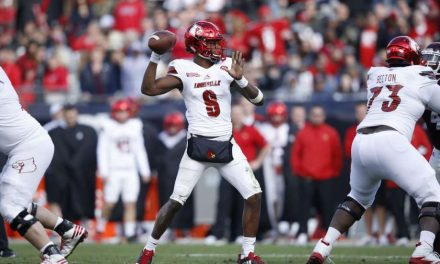 LOUISVILLE'S 2016 QUARTERBACK, LAMAR JACKSON, IS COLLECTING AWARDS NOW, AND WILL BE COLLECTING NFL CHECKS AT THE NEXT LEVEL, GOING FORWARD