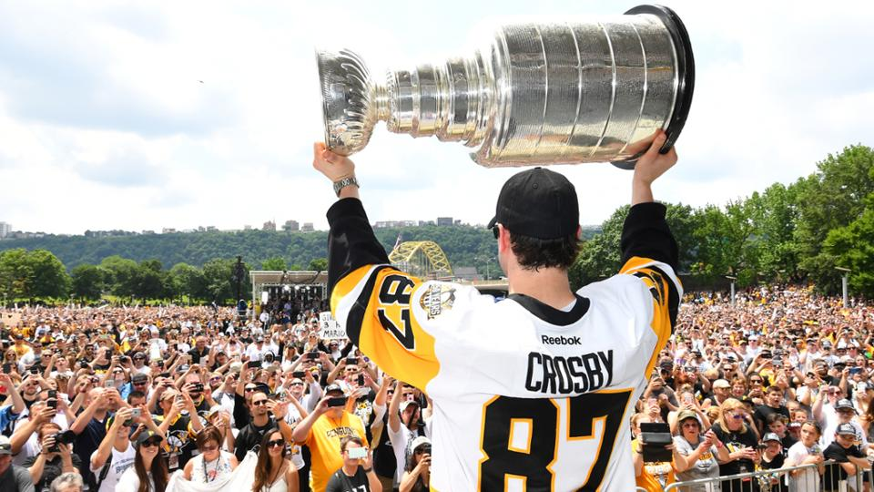 The Pittsburgh Penguins Celebrate Second Consecutive Stanley Cup Championship