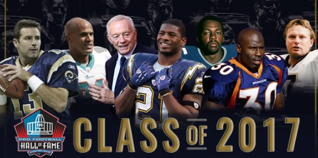 PRO FOOTBALL HALL OF FAME'S CLASS OF 2017