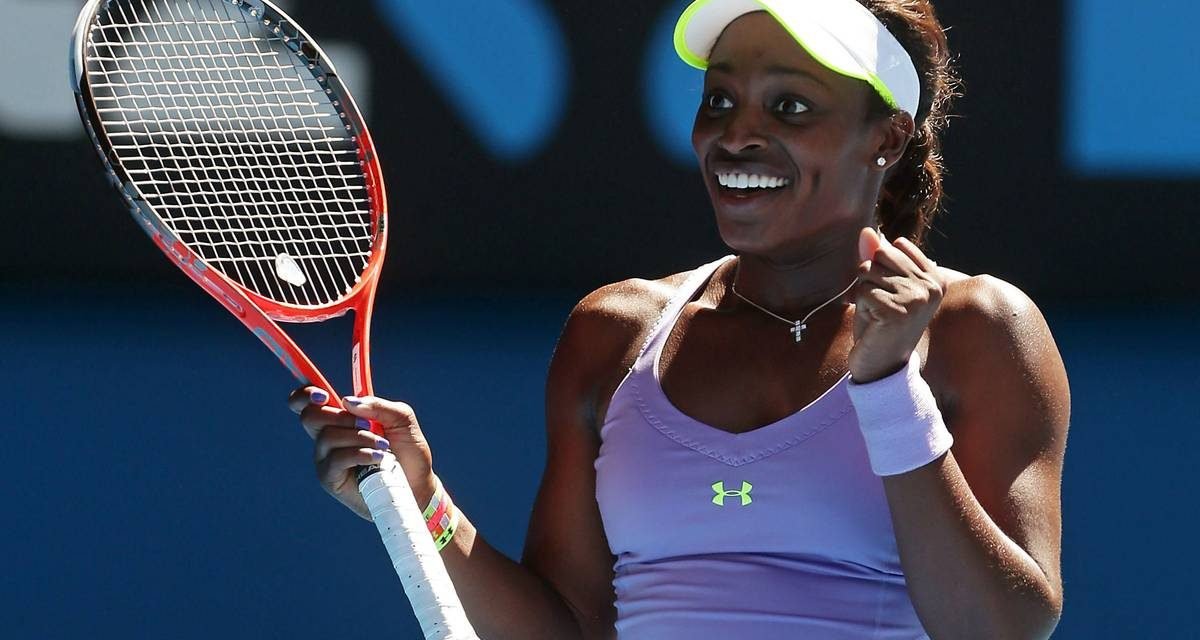 WELCOME BACK SLOANE STEPHENS, YOU'RE STRONG AS EVER, PLAYING GREAT AS EVER, AND WINNING AGAIN