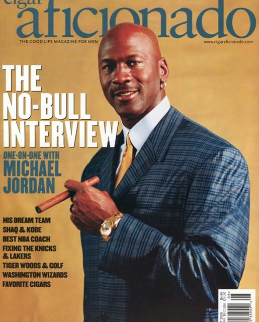"""""""WAY BACK IN THE SMOKE"""", Cigar Aficionado : A Revisit Of The One-on-One With Michael Jordan, THE CIGAR INTERVIEW PART 1, 2005….."""