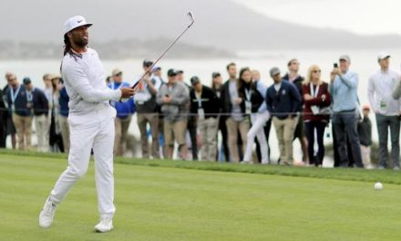 Arizona Cardinals NFL Great,  WR Larry Fitzgerald,  Wins Pebble Beach Pro-Am. Wide Receiver Gets First Golf Trophy With Wire-To-Wire Win With Streelman