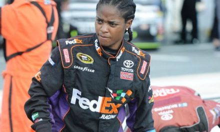 BREHANNA DANIELS GOES INTO NASCAR HISTORY BOOKS AS FIRST BLACK FEMALE CREWMEMBER