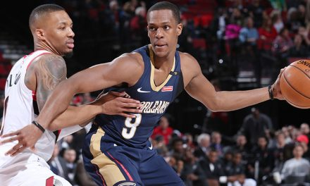 1ST Day 2018 NBA Playoff Results: The Rajon Rondo's New Orleans Pelicans Hold On To Win; The Golden State Warriors are Winners, The Raptors Get Their First Win, Also, Ben Simmons Gets The Job Done As The Philadelphia 76's Win