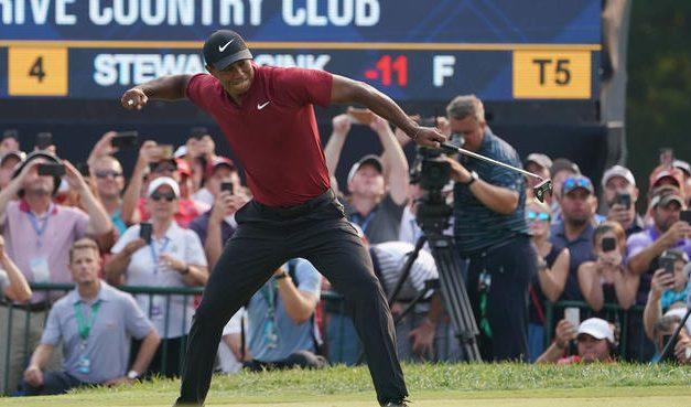 "Golf Is Tiger Woods,(""The Big Cat""), And The PGA Championship Of America On Sunday Confirmed That, Tiger Woods Closed In On Sunday, Looks Great While Shooting A 64, Finishes Second in Thrilling Final Round Of The PGA Championship, Check Out The Total Tiger Woods 3Day Thrilling Play Recap At The 2018 PGA"
