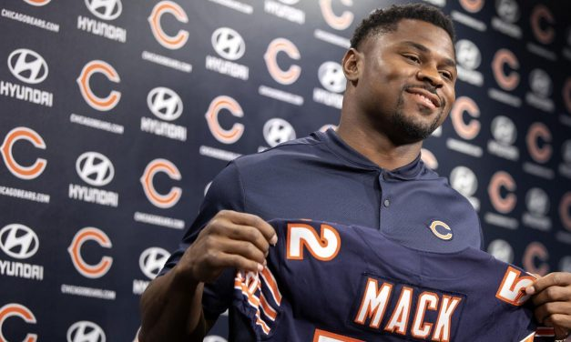Chicago Bears Acquire Khalil Mack From The Oakland Raiders In A Blockbuster Deal, A. Bears send two first-round picks to Raiders for star pass rusher, Chicago agree to six-year, $141m extension with 27-year-old, New deal makes Mack highest-paid defensive player in league