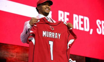 KYLER MURRAY IS THE FIRST QUARTERBACK TO BE PICKED, IS THE 2019 NFL NO.1 DRAFT PICK, AS THE ARIZONA CARDINALS SELECT THE BEST OVERALL PLAYER, AND QUARTERBACK IN THE NATION TO LEAD THEIR FRANCHISE BACK TO THE DAYS OF GLORY.  DWAYNE HASKINS HAS BEEN DRAFTED NO.15 IN THE NFL BY THE WASHINGTON REDSKINS AS THEIR FRANCHISE QUARTERBACK.