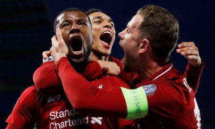 THIS IS YOUR ASSOCIATION FOOTBALL UPDATE: Manchester City put one hand on EPL title after Vincent Kompany thunder strike AGAINST Leicester City F.C., AND Liverpool FC dumps Lionel Messi and FC Barcelona out of the Champions League for good, advancing to the final
