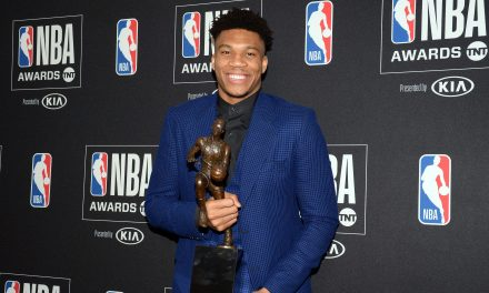 Milwaukee Bucks big man Giannis Antetokounmpo capped off an incredible year by being named MVP of the 2018-19 NBA season during the league's award show on Monday night.