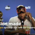 NBA CHAMPION AND MVP, Kawhi Leonard, picks THE LOS ANGELES ClipperS, with Paul George ALSO IN THE FOLD, stunning THE NBA IN IT'S TOTALITY, TO INCLUDE THE TORONTO Raptors and THE LOS ANGELES Lakers.  Also, Danny Green and the Los Angeles Lakers Agree to Two-Year, $30 Million Deal