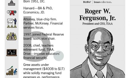 TIAA CEO Ferguson, The Top Potential Biden Appointee, As The United States Secretary of the Treasury, Plans to Retire