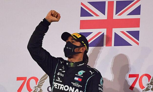 Hamilton wins Bahrain Grand Prix after Grosjean survives huge crash – as it happened