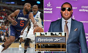 hip hop mogul, actor, record producer, entrepreneur, and former basketball player, Master P (Percy Robert Miller and ex-NBA All-Star, businessman, Baron Davis are in talks to buy struggling shoe brand Reebok from parent company Adidas for $2.4billion