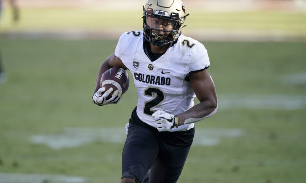 CU Buffs' Brenden Rice, son of Hall of Famer Jerry Rice, scores two touchdowns vs. Utah