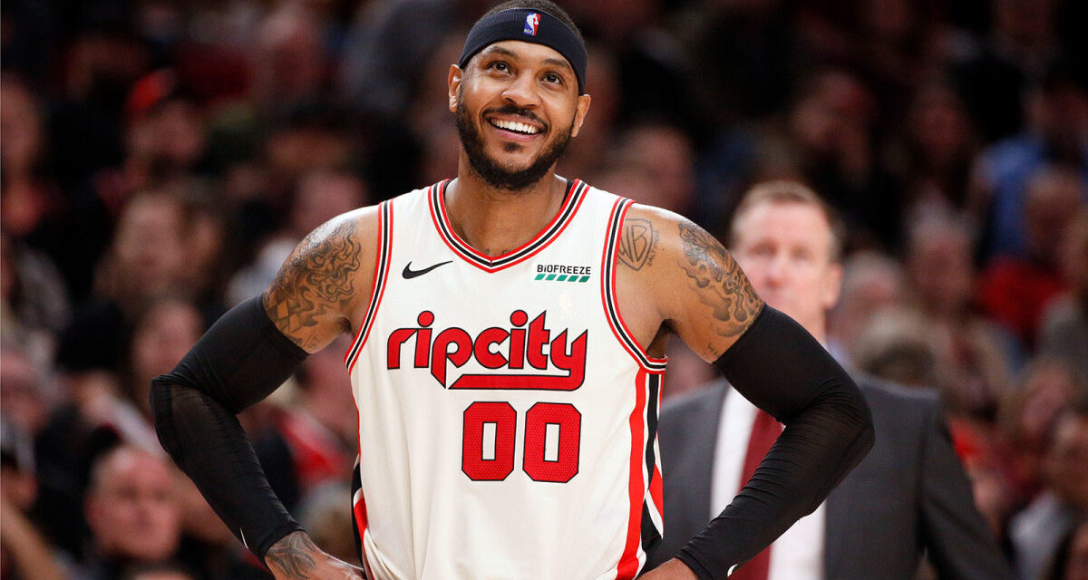 Carmelo Anthony, of the Portland Trailblazers, is a bona fide candidate for Sixth Man of the Year, The veteran is enjoying an incredible March, averaging 20.3 points, 3.3 assists and 3.0 rebounds over six games, Trail Blazers' Carmelo Anthony: Enjoys vintage scoring effort in march.