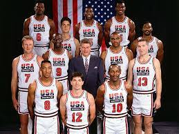 The 1992 Dream Team that dominated Olympic basketball, like no other team in the history of the olympic basketball competition.