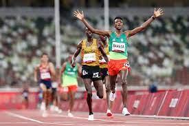Ethiopia's Selemon Barega wins track gold, PLACES 1ST IN  Tokyo Olympics men's 10,000 meters
