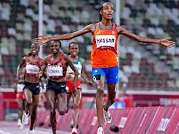 Sifan Hassan fell in one race, won gold in another, and kept her daring dream alive