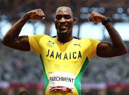 Athletics-Jamaican Hansle Parchment wins 110m hurdles,  Cuba's Arlen Lopez won his second Olympic gold medal, and more….