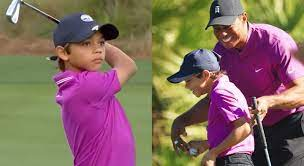 """THE """"GOAT"""" IS BACK ON THE GREEN, GUIDING HIS SON TO GREATNESS. Tiger Woods spotted at Florida golf course with his son"""