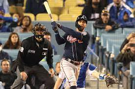 THE ATLANTA Braves put THE LOS ANGELES Dodgers in a familiar 3-1 hole, as Eddie Rosario leads NLCS Game 4 blowout