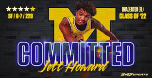"""Jett Howard commits to play for dad,    2× NBA champion (2012, 2013)     NBA All-Star (1996)     All-NBA Third Team (1996)     NBA All-Rookie Second Team (1995)     Second-team All-American – NABC (1994)     Third-team All-American – AP (1994)     First-team Parade All-American (1991)     McDonald's All-American (1991), """"Juwan Howard"""",  head coach of the Michigan Wolverines"""